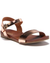 f900af3d57 MIA - Piper Buckle Strap Sandal - Lyst