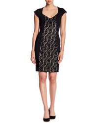 Alexia Admor | Sheath Lace Combo Dress | Lyst