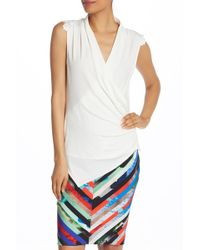 Laundry by Shelli Segal - Embellished Matte Jersey Top - Lyst