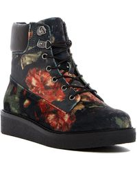 MIA - Prepster V Wedge Platform Lace-up Boot - Lyst