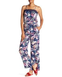 Laundry by Shelli Segal - Lace Trimmed Patterned Jumpsuit - Lyst