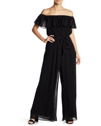 Lucy Paris - Pleated Off-the-shoulder Jumpsuit - Lyst