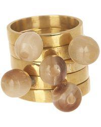 Soko - Sawa Nestling Round Horn Top Ring Set - Lyst