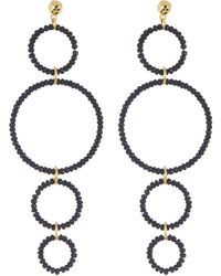 Gorjana - Sayulita Beaded Multi Hoop Drop Earrings - Lyst
