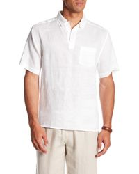3ed0c79a00e Lyst - J.Crew Short-sleeve Chambray Popover In Palm Tree Print in ...