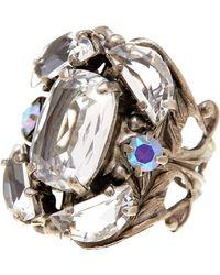 sorrelli cutting edge crystal statement ring lyst