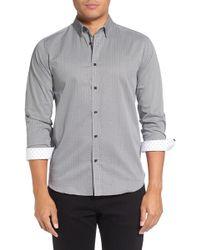 Ted Baker - Jamitt Trim Fit Check Dress Shirt - Lyst