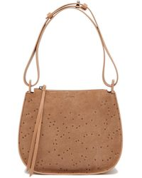 AllSaints - Mini Echo Star Embossed Convertible Shoulder Bag - Lyst