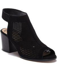 Vince Camuto - Lavette Leather Block Heel Sandal - Lyst