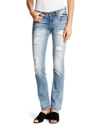 Miss Me - Distressed Straight Leg Jeans - Lyst