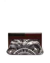 Trina Turk - Sunset Soiree Leather Clutch - Lyst