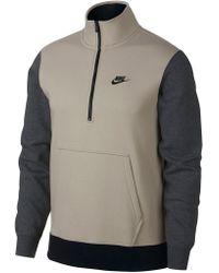Nike - Club Half Zip Long Sleeve Trend Pullover - Lyst
