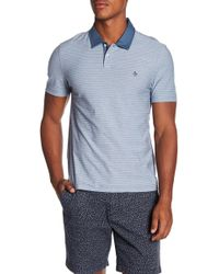 Original Penguin | Reverse Feeder Stripe Polo | Lyst