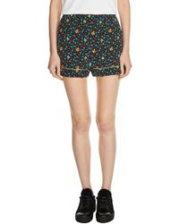 Maje | Floral Print Shorts | Lyst