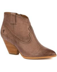 Frye - Reina Leather Bootie - Lyst