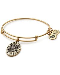 ALEX AND ANI - Because I Love You Daughter Flower Charm Expandable Wire Bangle Bracelet - Lyst