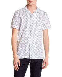 JB Britches - Fazio Short Sleeve Trim Fit Shirt - Lyst