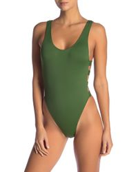 The Bikini Lab - Solid Side Strap One-piece Swimsuit - Lyst