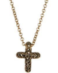 Judith Jack - Gold Plated Sterling Silver Reversible Pave Cross Pendant Necklace - Lyst