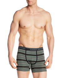 Lucky Brand - Striped Print Boxer Briefs - Lyst