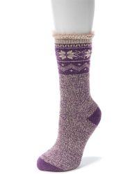 Muk Luks - Heat Retainer Thermal Insulated Socks - Lyst