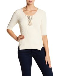 Veronica Beard - Marley Lace-up Sweater - Lyst