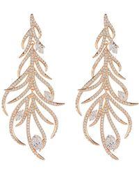 Nadri - Sophia Pave Cz Linear Leaf Dangle Earrings - Lyst