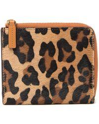MCM - Genuine Calf Hair Zip Around Wallet - Lyst