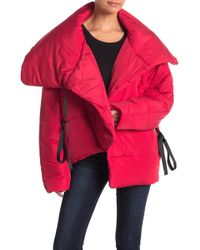 Romeo and Juliet Couture - Surplice Wrap Puffy Jacket - Lyst