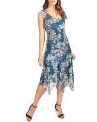 868d64a239 Komarov - Handkerchief Hem Midi Dress (regular   Petite) - Lyst