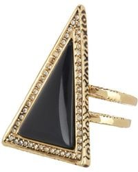 House of Harlow 1960 - Black Triangle Theorem Ring - Size 6 - Lyst