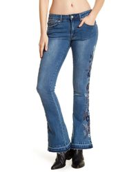 Philosophy Apparel - Embroidered Flare Jeans - Lyst