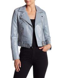 Vero Moda - Faux Leather Moto Jacket - Lyst
