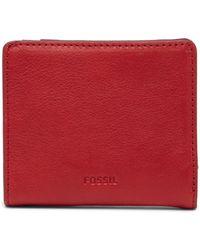 Fossil - Emma Mini Leather Wallet - Lyst