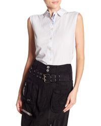 Johnny Was - Dual Patterned Hi-lo Top - Lyst