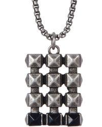 Steve Madden - Studded Dogtag Necklace - Lyst