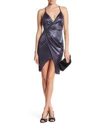 Lush - Overlap Shiny Party Dress - Lyst