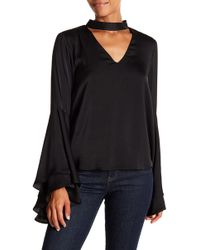 Kendall + Kylie - Mock Neck Bell Sleeve Top - Lyst