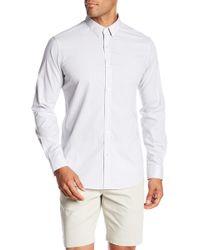 Theory - Zack Plaid Classic Fit Long Sleeve Shirt - Lyst
