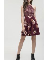 Blu Pepper - Floral Lace Dress - Lyst