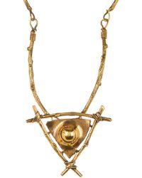 TMRW STUDIO - Antique Gold Plated Necklace - Lyst