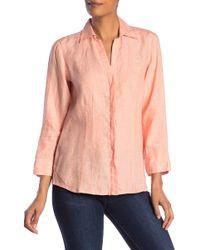 Foxcroft - Taylor Linen Shirt - Lyst