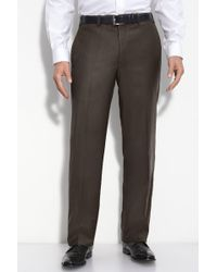 JB Britches - Flat Front Trouser - Lyst