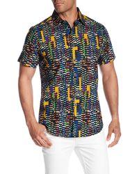 Robert Graham - Fergus Falls Short Sleeve Print Woven Classic Fit Shirt - Lyst