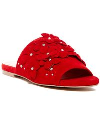 Charles David - Women's Sicilian Embellished Suede Slide Sandals - Lyst