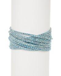 Swarovski - Crystal Wrap Bracelet - Lyst