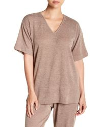 N Natori - Cloud V-neck Tee - Lyst