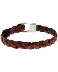 Link Up - Braided Leather Hook Bracelet - Lyst
