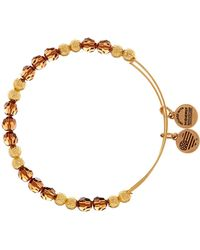 ALEX AND ANI - Golden Days Wish Wrap Beaded Bangle - Lyst