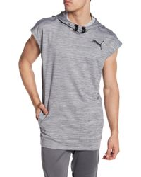 PUMA - Tech Fleece Short Sleeve Hoodie - Lyst